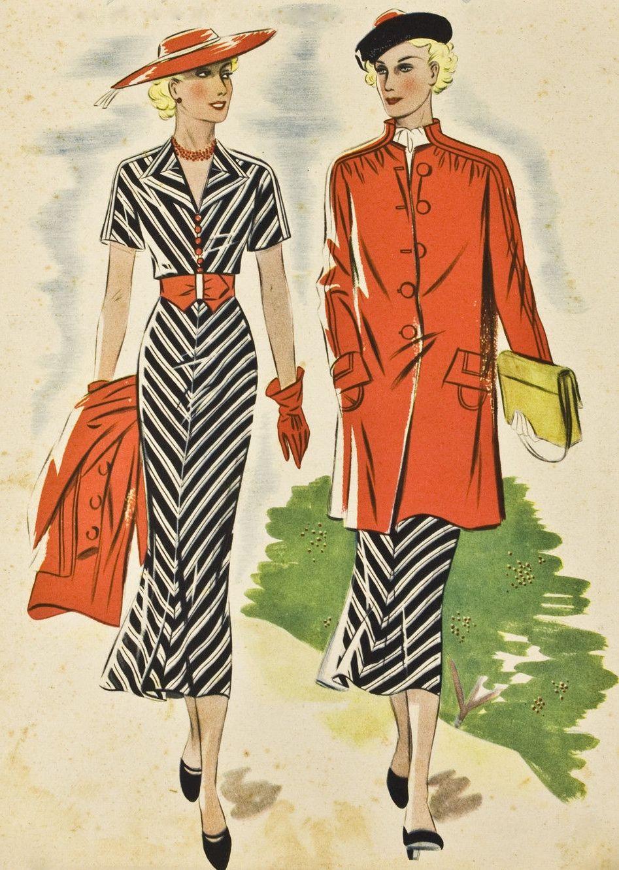 Pin von 1930s/1940s Women\'s Fashion auf 1930s Dresses 1 | Pinterest ...