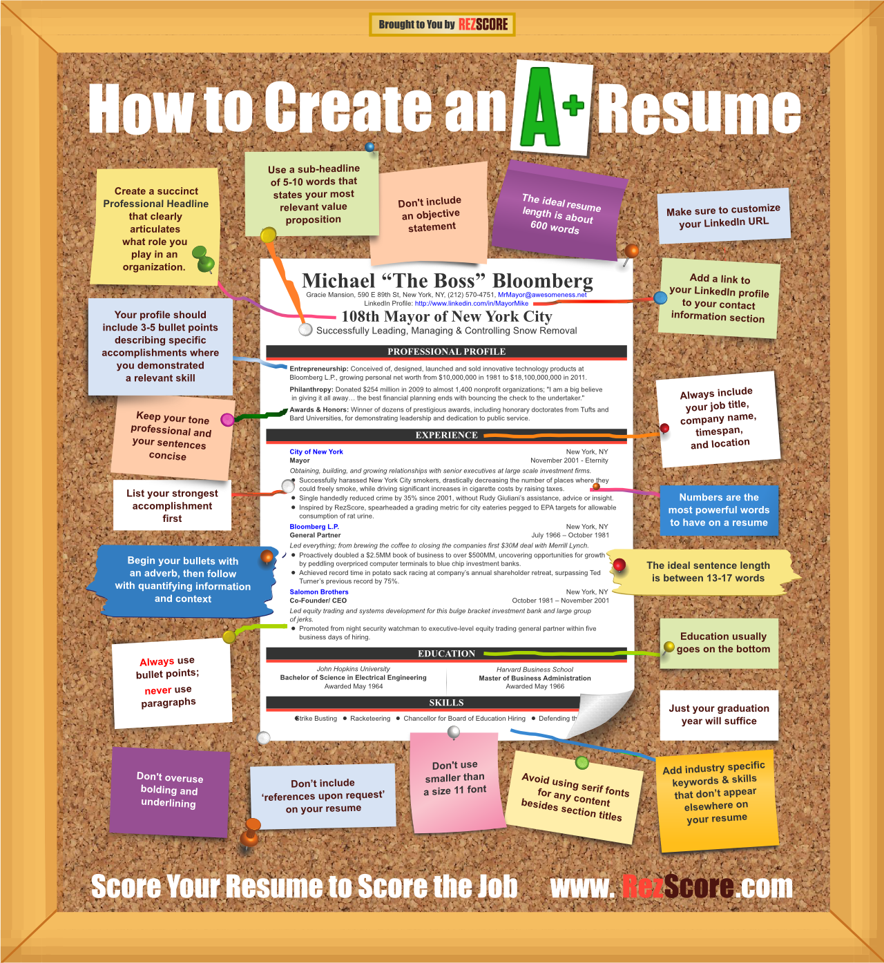 How to create an A+ resume #infographic | Surviving College Life ...