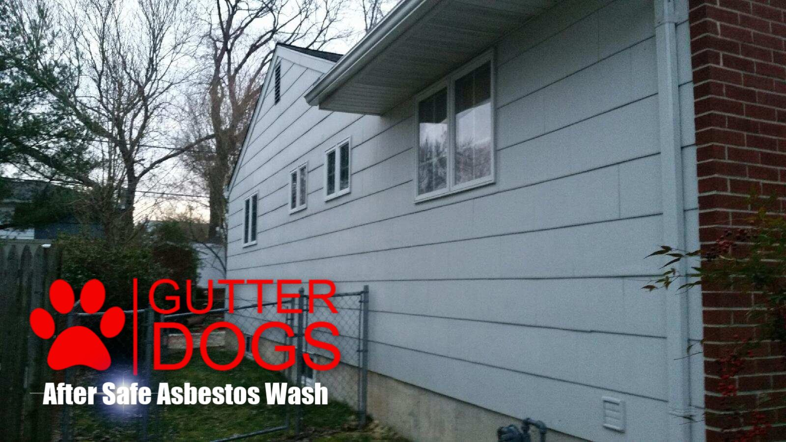 After Image Of Our Safe Asbestos House Wash In Maryland Roof Cleaning House Wash Cleaning Gutters