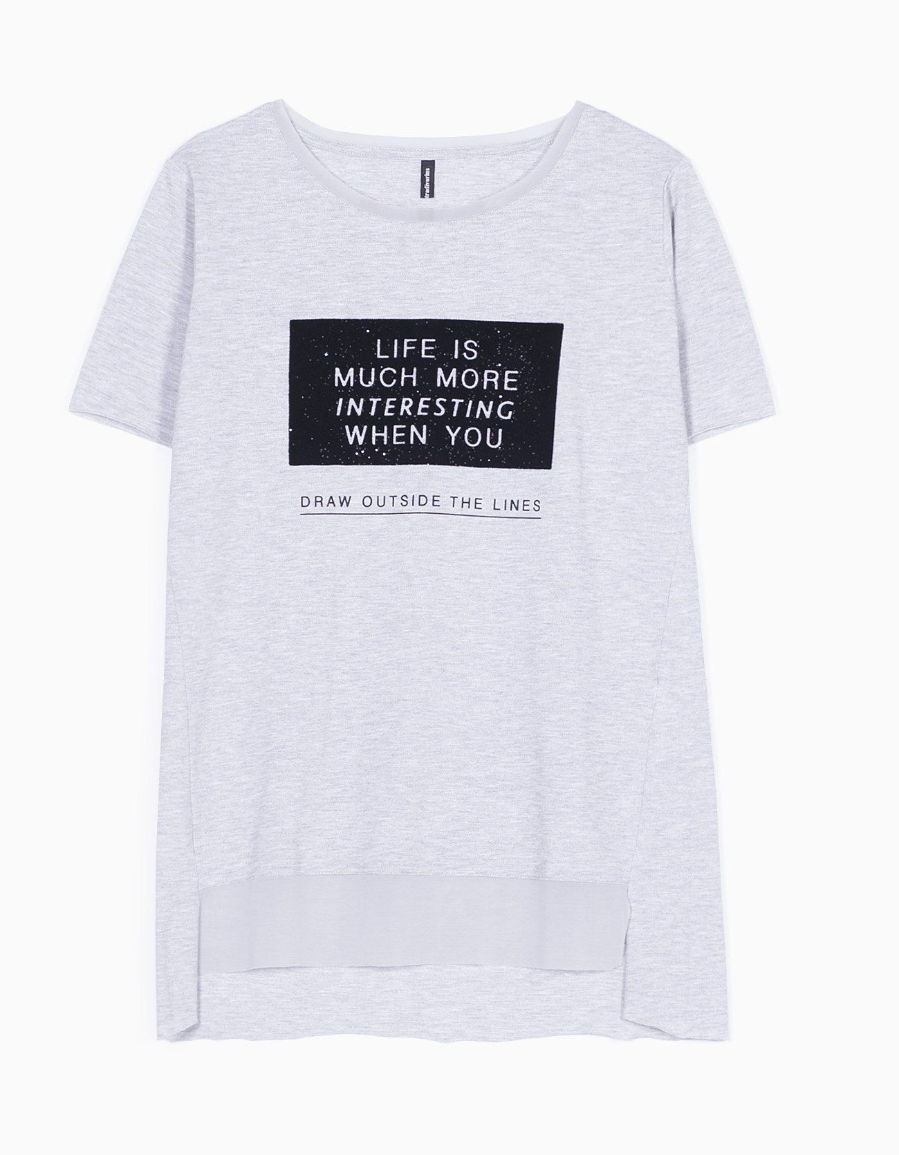 Camiseta piqué con textos - CAMISETAS - MUJER | Stradivarius España