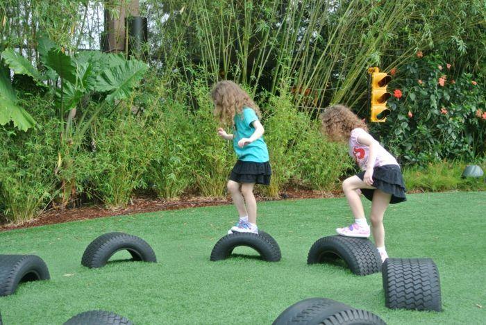 Kletteranlage aus alten Reifen selber machen | Kinderspiele ...