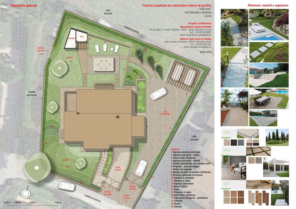 Progetto Di Giardino E Sistemazione Esterna Per Villa Privata Picture Gallery Public Space Patio Architecture