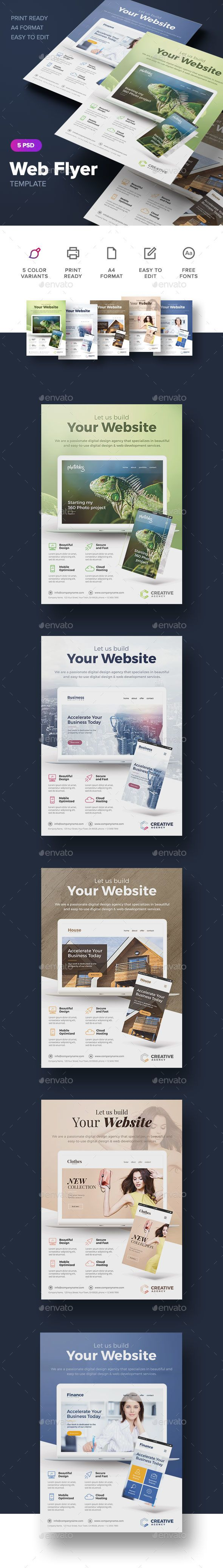 Web Flyer  Flyer Template Template And Print Templates