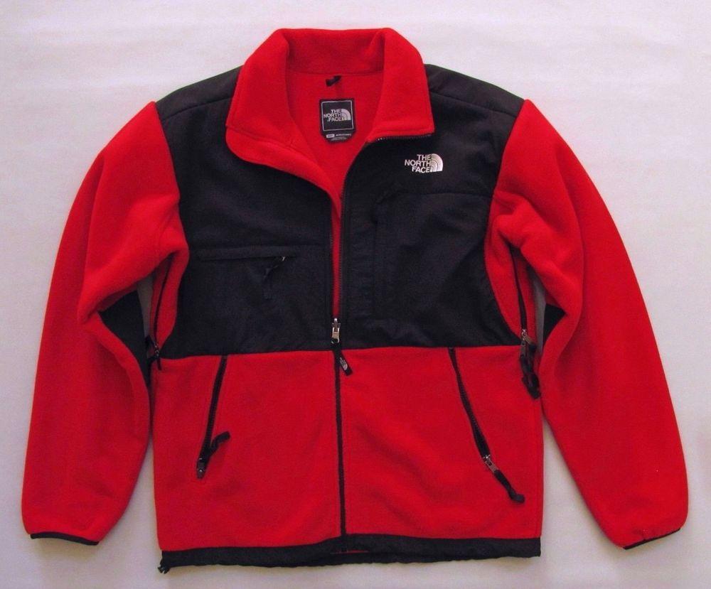 The North Face Denali Mens Jacket Small Red Black Polartec Fleece Coat Full Zip Thenorthface Basicjacket Mens Jackets Polartec Fleece Fleece Coat [ 829 x 1000 Pixel ]