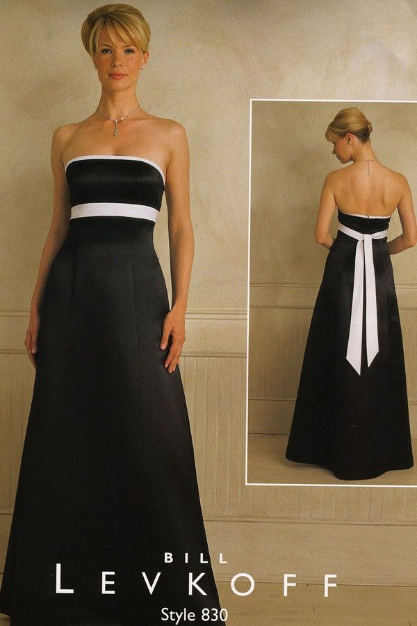 black and white bridesmaid dresses - Google Search | B&W Dresses ...