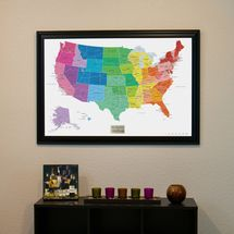 Colorful world push pin travel map with pins travel maps and giveaway push pin travel maps colorful us map with frame and pins colorfulmap framedmap mapwithpins gumiabroncs Gallery