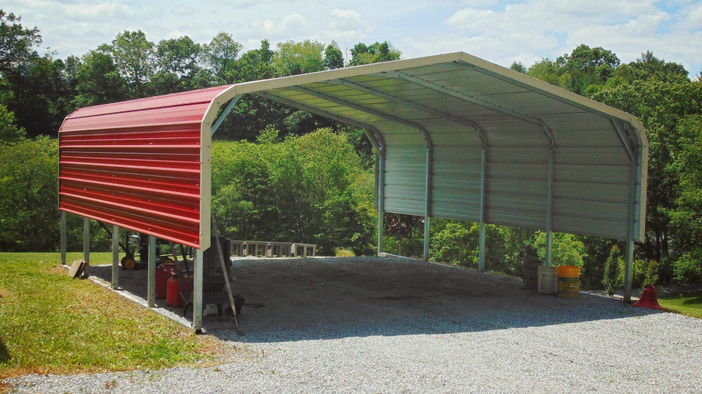 Metal Carport 18x21 Regular Roof Metal Carport Metal Carports Steel Carports Metal Carport Kits