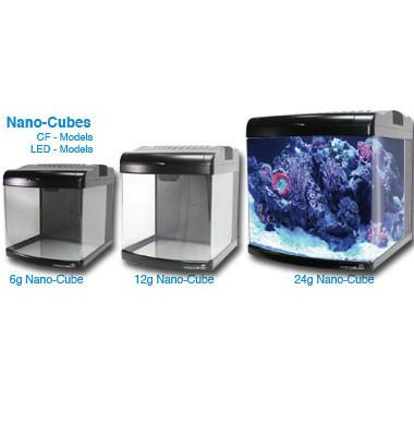 Jbj 6g Nano Cube Is The Smallest Edition And The Most Compact Nano Cube To Date It Will Virtually Fit On Any Deskt Aquarium Led Glass Aquarium Aquarium Design