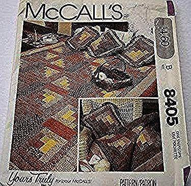 Modèle de courtepointe de cabane en rondins  par le vôtre vraiment King  Queen  Double  Twin Size couette  couvrelit UNUSED McCalls 8405 Quilting Craft Patte...