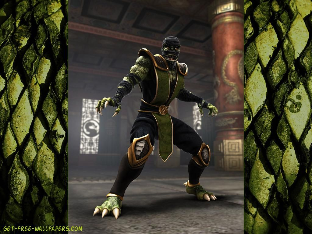 mortal kombat shaolin monks reptile games wallpaper - hd