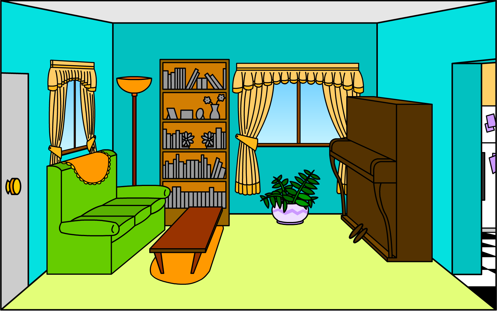 People In Living Room Clipart - Google Search