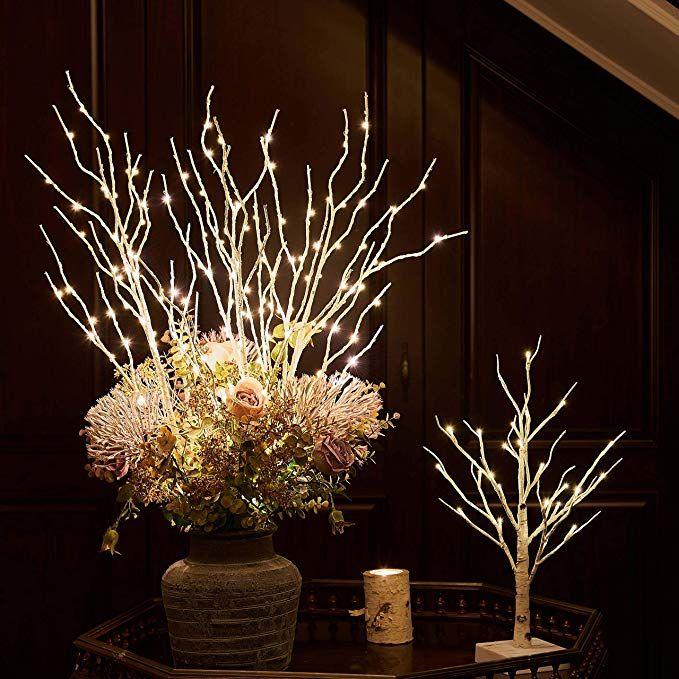 Amazon.com: Hairui Lighted White Birch Willow Branches