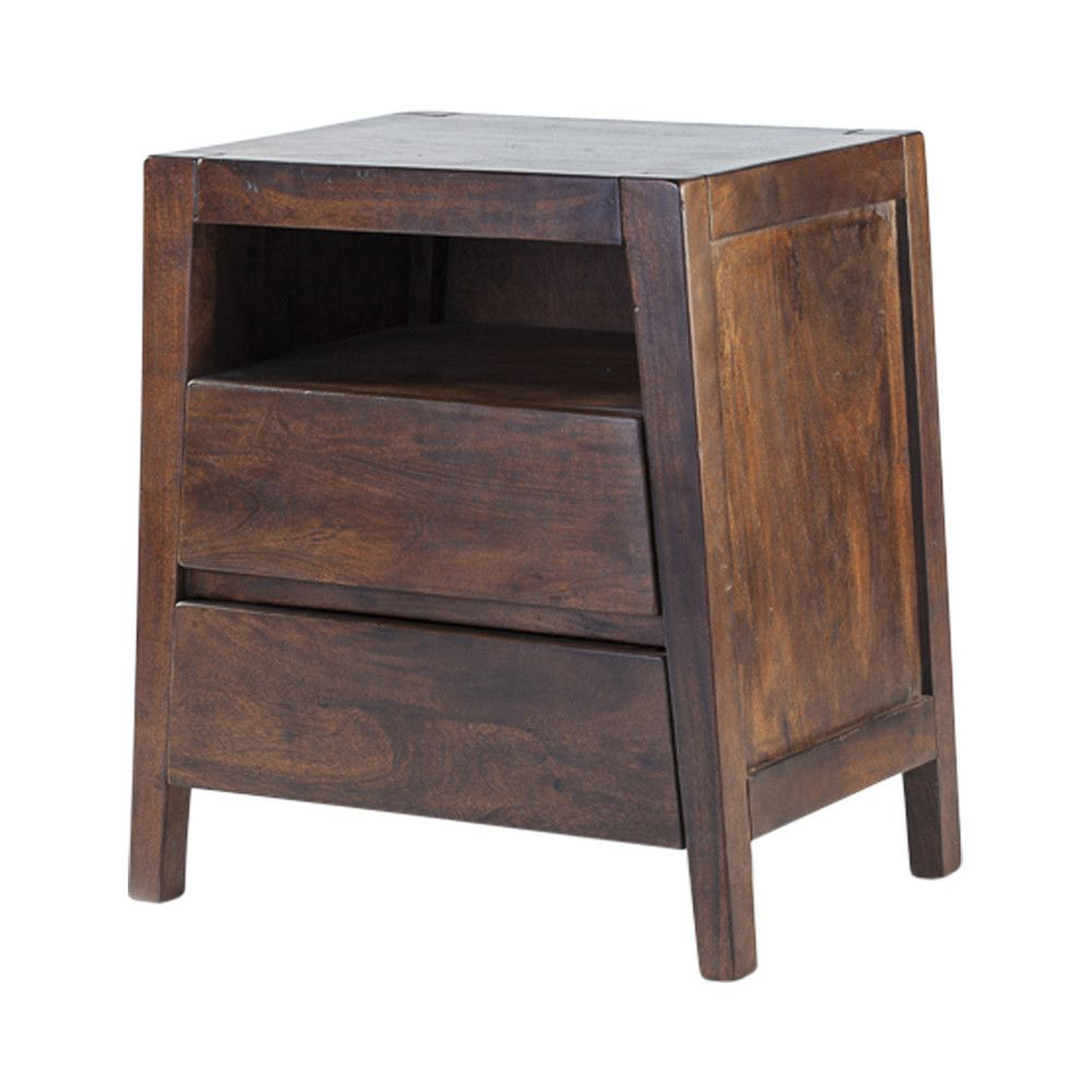 Cadier Buró de Madera de Acacia Sólida - Caoba Oscuro | mesas de ...