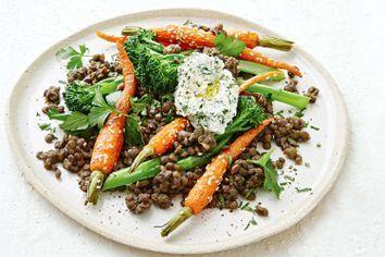 Carrot and lentil salad