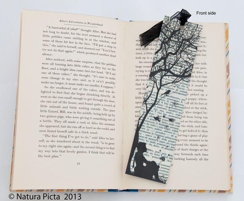Little girl with dandelion bookmark-book art bookmark-dandellion