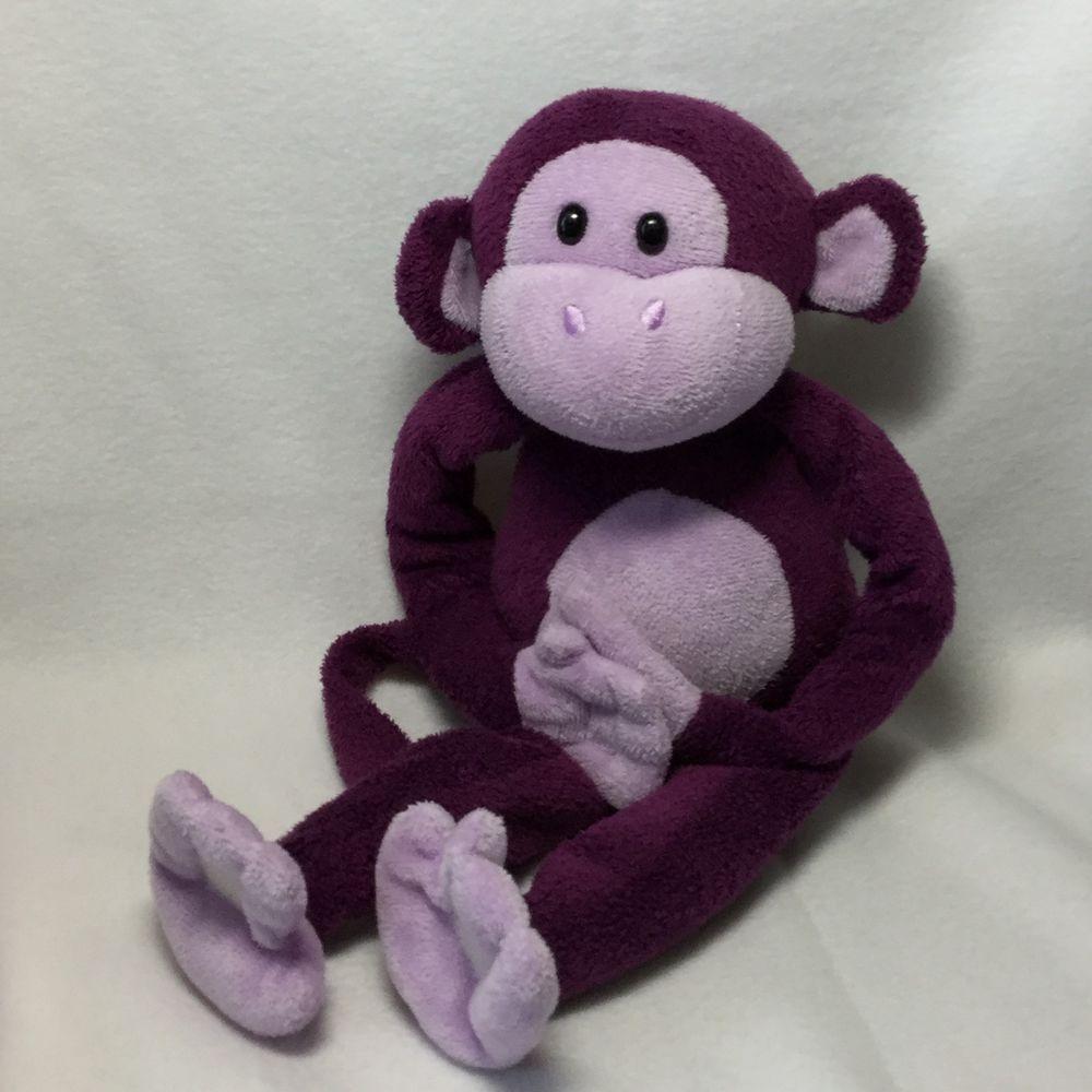 Circo Purple Hanging Monkey Plush Soft Toy Stuffed 15
