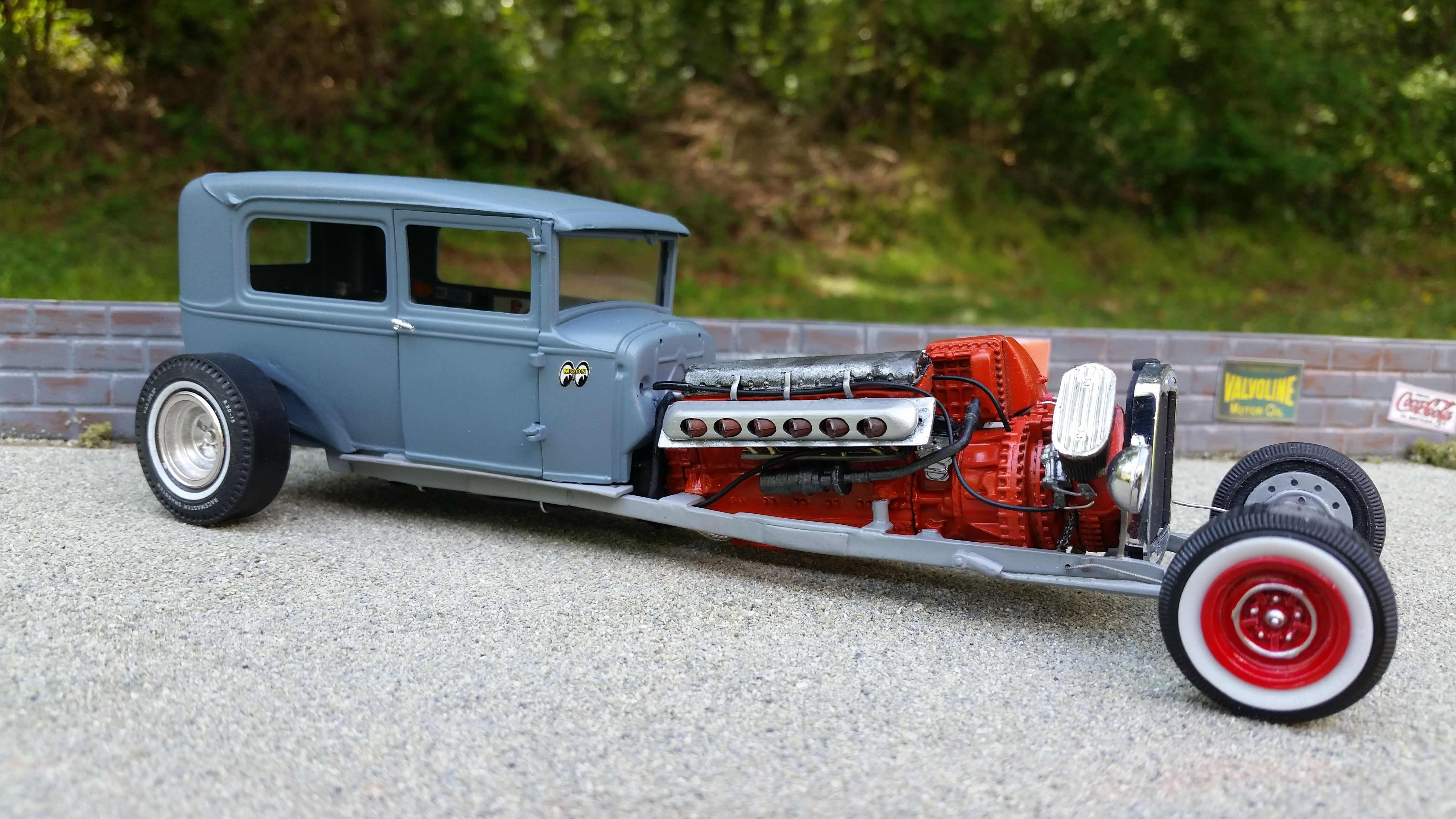 V12 packard engine from a p51 mustang model cars plastic model