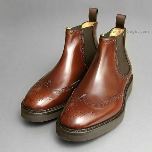 db50fb79447 Mens Designer Italian Chelsea Boots Vibram Sole from Arthur Knight Shoes