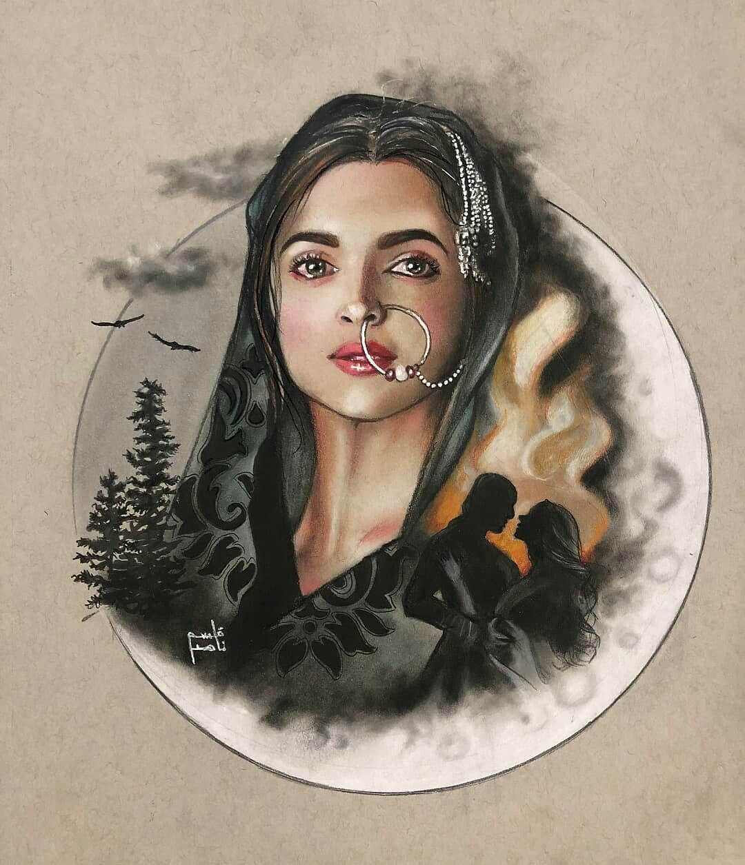 Pin by Bunny on Deepika Padukone | Indian paintings, Sarra ...
