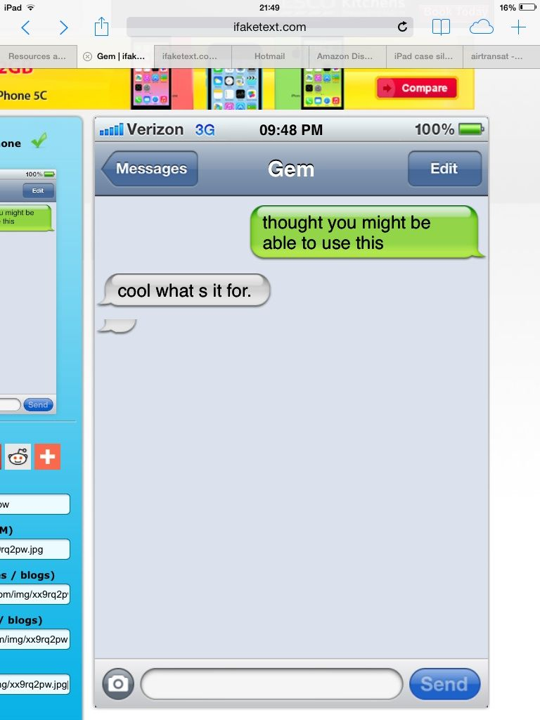 Cool site for making fake text message images fake text