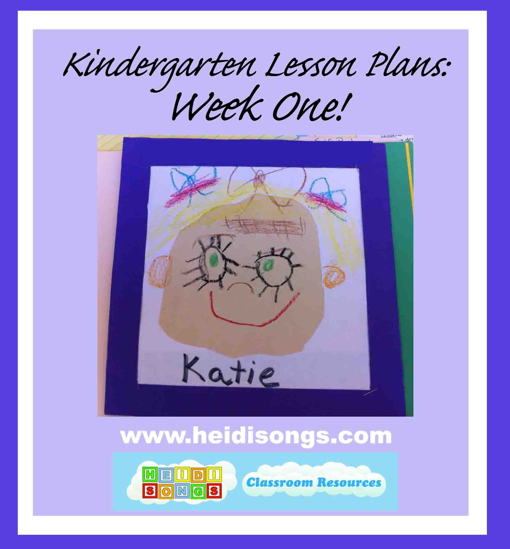 Kindergarten Lesson Plans Week 1