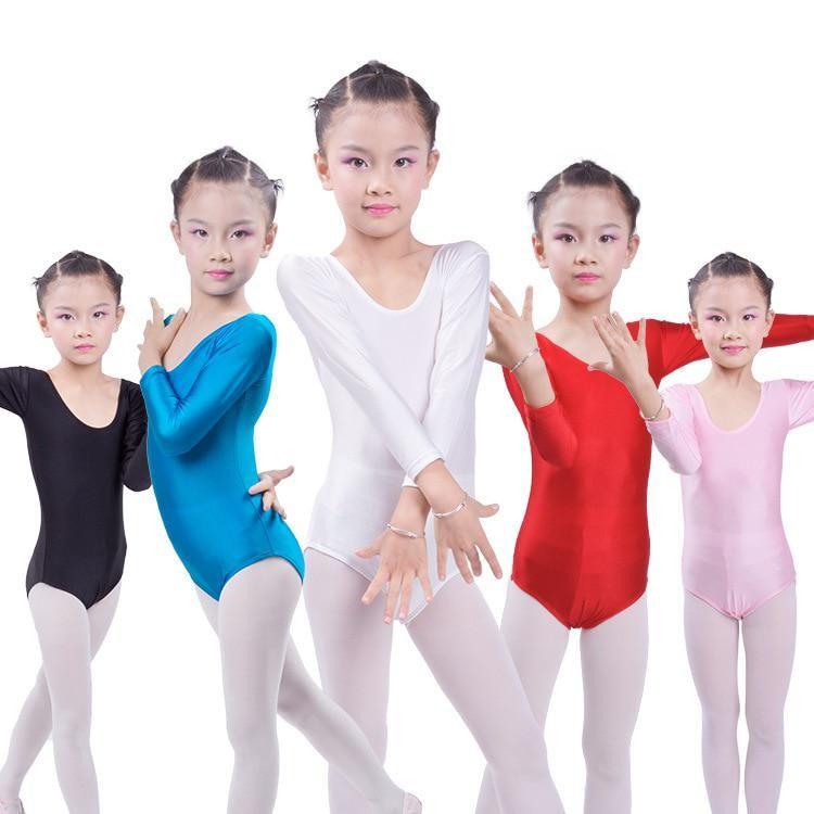 Gym Ballet Girls Long Sleeved Leotard Dance wear Kids
