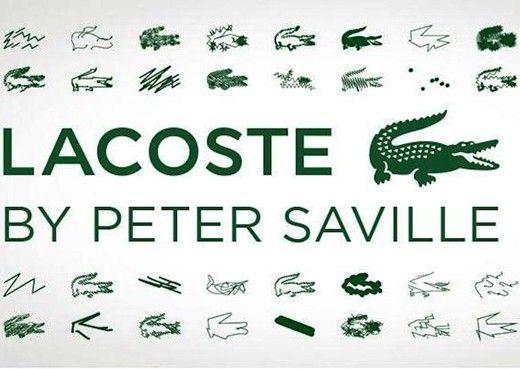 2b713f6b7d1006 Peter Saville s reworkings of the Lacoste crocodile logo