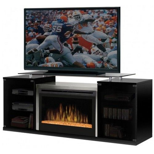 Dimplex Marana Tv Stand With Electric Fireplace With Glass