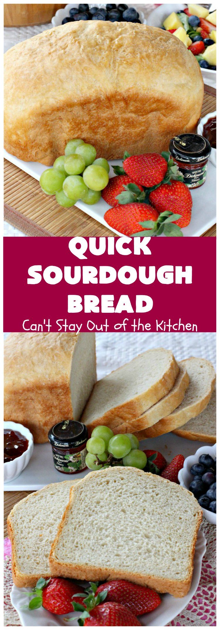 Quick Sourdough Bread Quick Sourdough Bread | Can't Stay Out of the Kitchen | this delicious is so easy since it's made in the You get that great taste with a loaf of this scrumptious We serve it for or dinner.