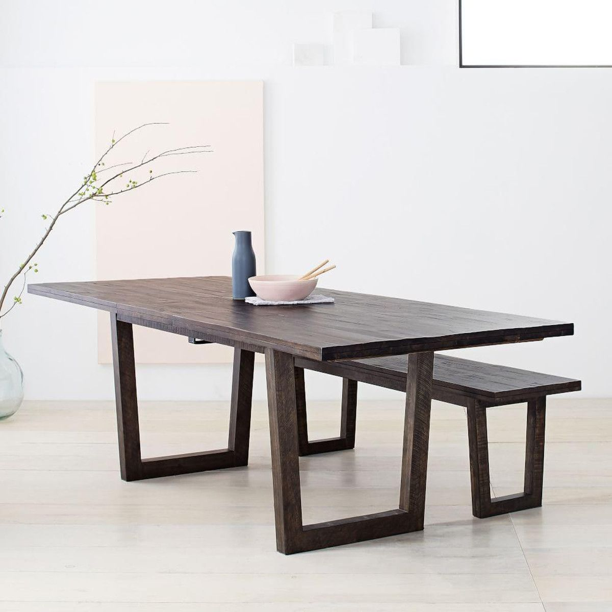 Logan Industrial Expandable Dining Table Expandable Dining Table