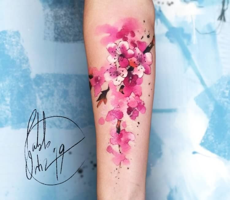 Photo Sakura Flowers Tattoo By Pablo Ortiz Tattoos Japanese