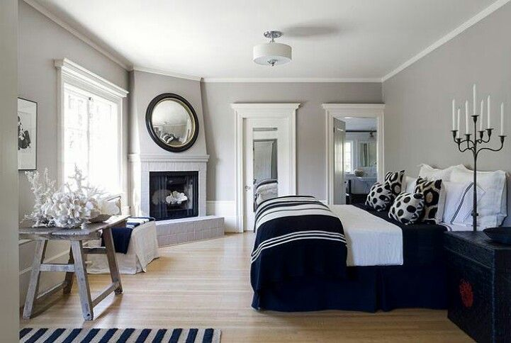 I am needing to do more with my bedroom. Walls are already painted gray. Love the black and white to complement. Think I might also incorporate a splash of bright color...maybe.