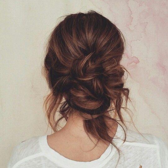 Pin de Mik F en Hairstyles Pinterest Peinados Cabello y Recogidos