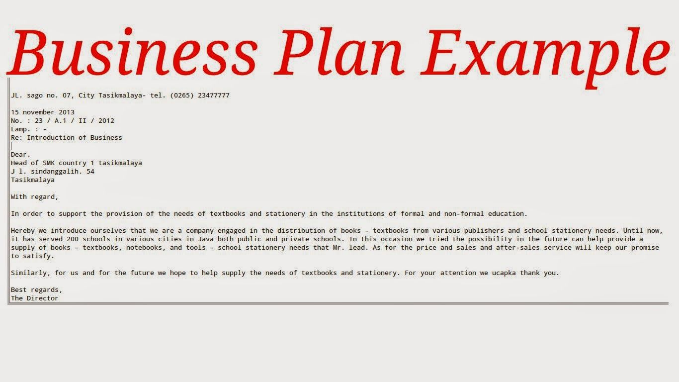 Write Simple Business Plan Business Plan Example Business Proposal Template Restaurant Business Plan