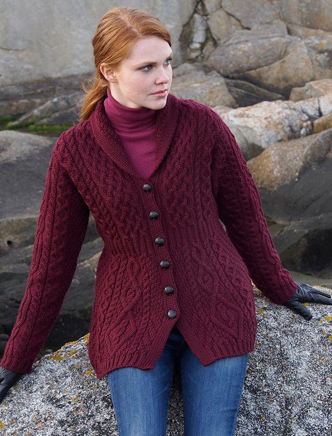 Merino Shawl Neck Cardigan (With images) | Crochet ...