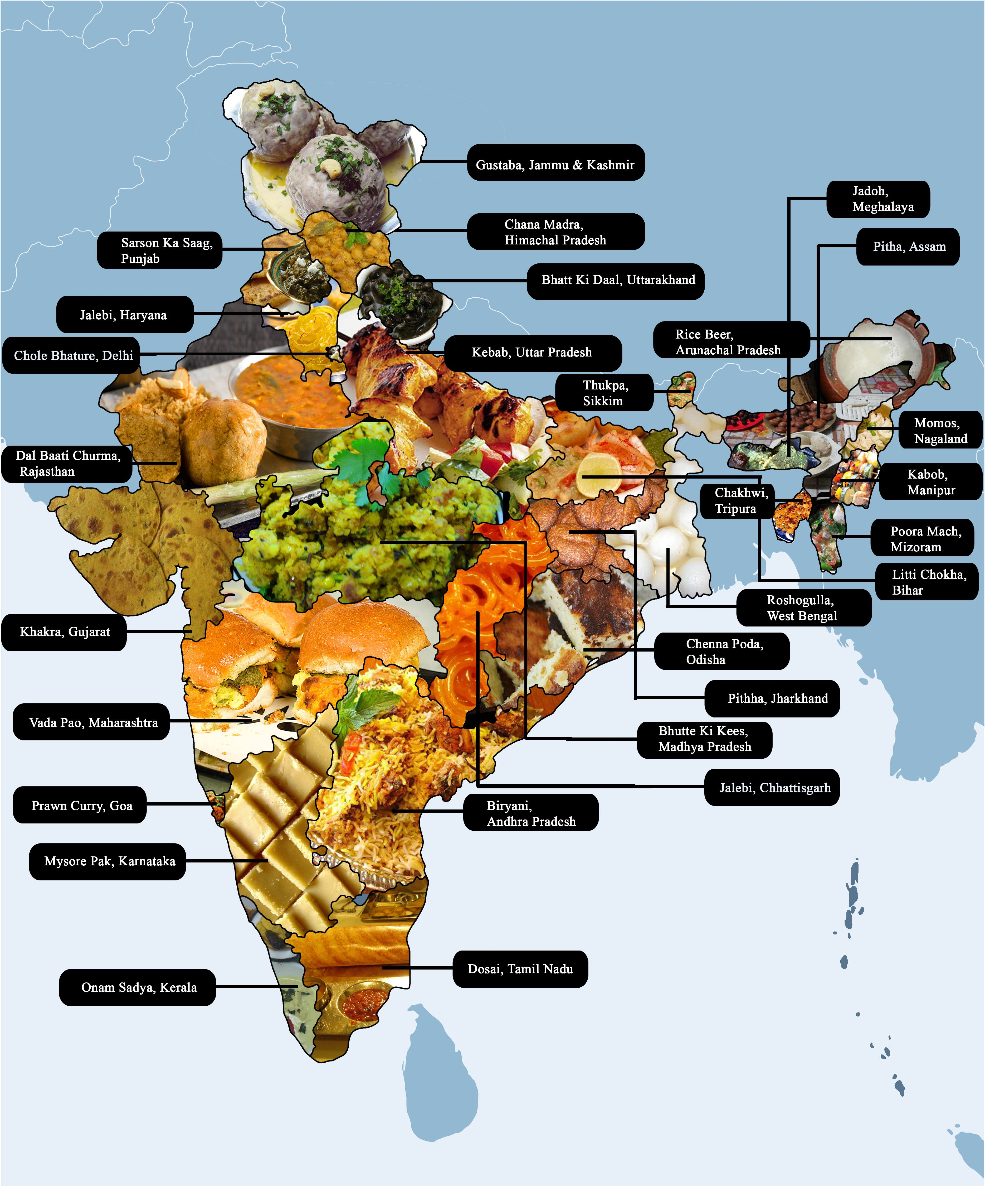 State Wise Food Map Of India Akp Pinterest Food Map India Map