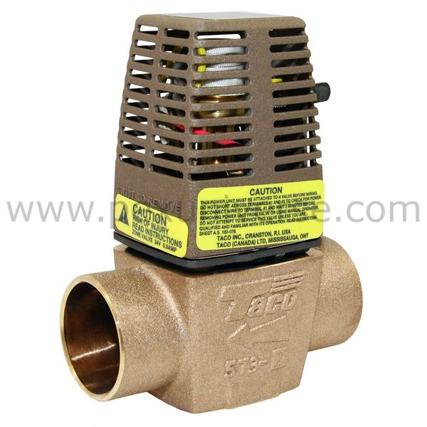 Taco 573 2 1 1 4 Sweat Zone Valve Hydronic Heating Systems Hydronic Heating Valve