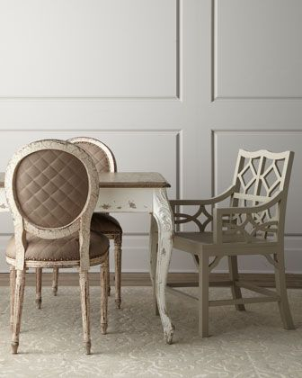 Old Hickory Tannery Limestone Side Chair Abrille Armchair Captivating Kendall Dining Room Inspiration