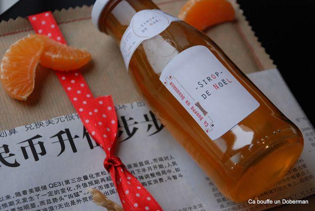 Sirop de Noël à la Mandarine  Christmas Sirup with tangerine