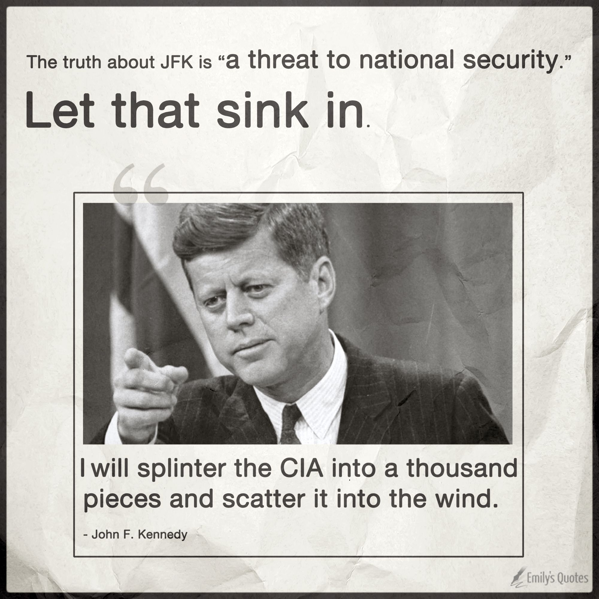 "The truth about JFK is ""a threat to national security"