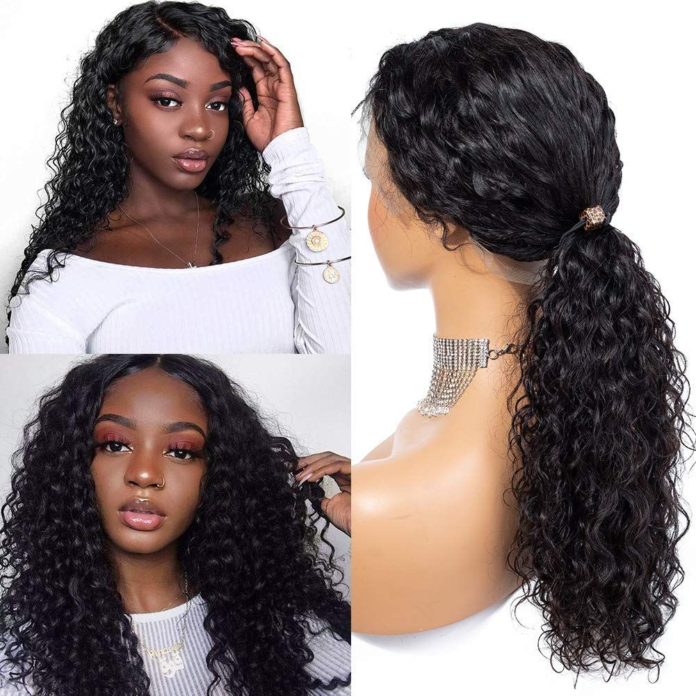 ....................................................................................................................................................................................................... PRODUCT FEATURES ※Item: Deep Wave Lace Front Human Hair Wigs Wet And Wavy Glueless Wigs For Black Women ※Hair Material: 9A Grade Human Hair ※Hair Color: Natural Black ※Hair Grade: Deep Wave Hair, Medium Luster ※Hair Length: 10inch-26inch is available, Very Soft, Healthy, and thick ※Base Material: Sw