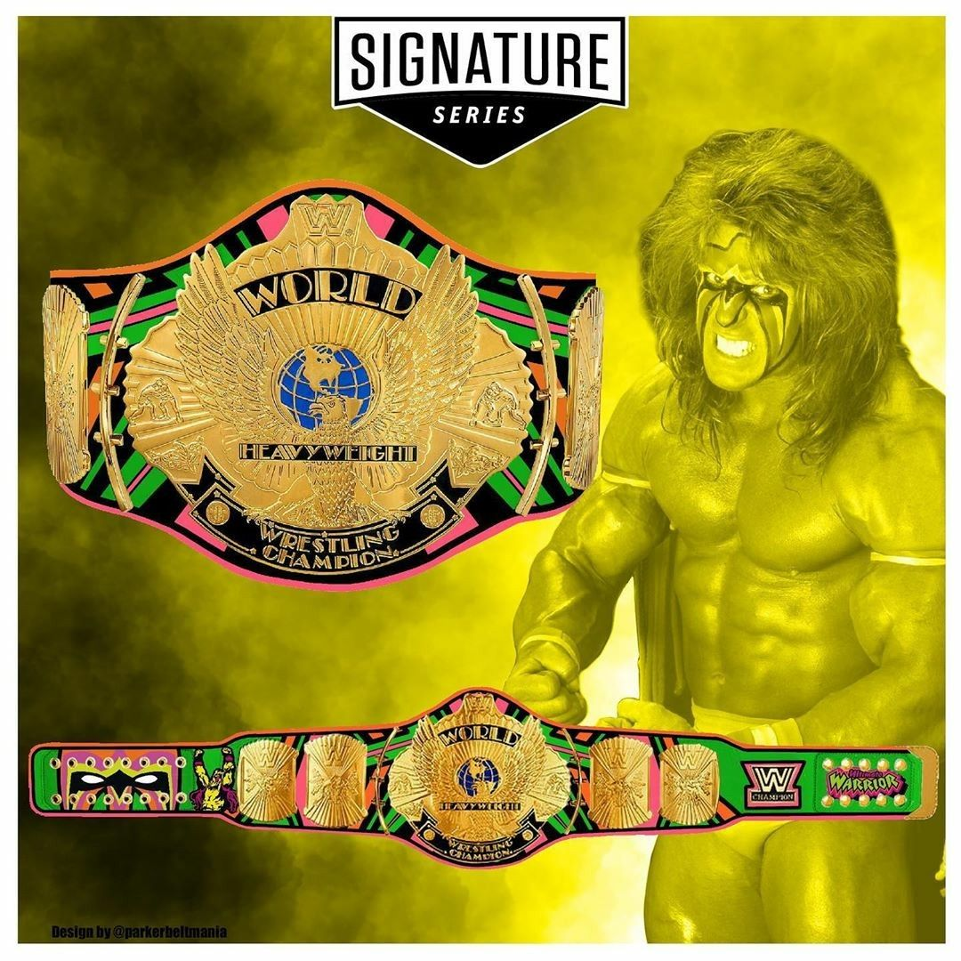 Pin By Salvador Leandro Gtz On Wwe In 2021 Ultimate Warrior Wwe Belts Shawn Michaels