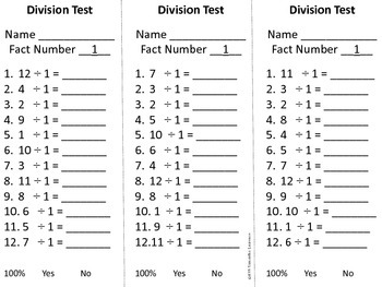 Division Timed Tests $3