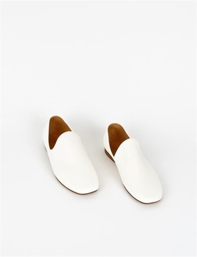 LEMAIRE Loafers Chalk