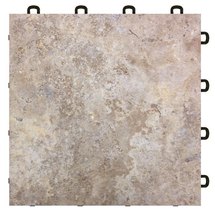 Interlocking Laminate Tiles - Sienna Sandstone Modutile ...