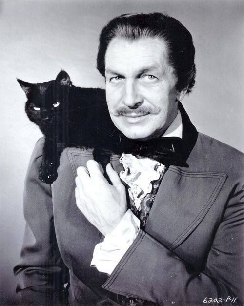 Vincent Price and the black cat. Personally, Vincent was