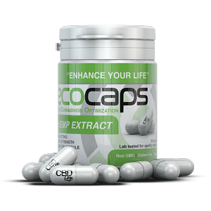 Ecocaps Bottle - 30 CBD Capsules (30mg each) | Sampling CBD