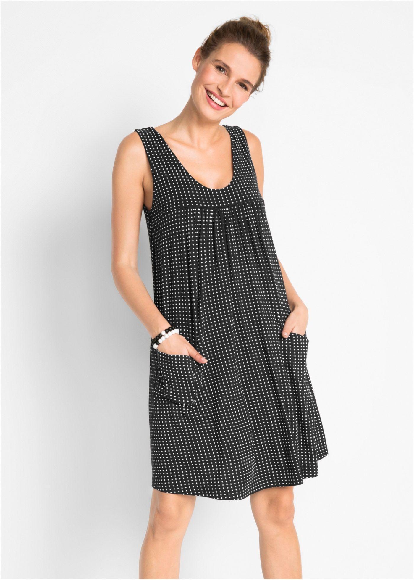 Jerseykleid Mit Taschen Gemustert In 2021 Kleider Damen Damenkleider Kleider