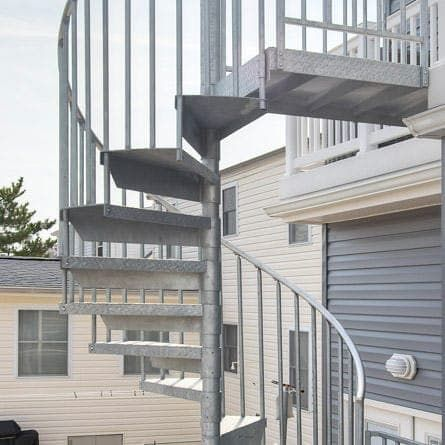 Best The Cape Cod Galvanized Outdoor Spiral Stairs Spiral 400 x 300