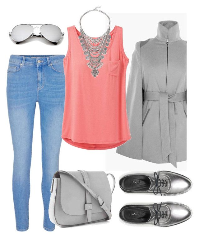 """""""Grey and rose look set"""" by daniellecarso on Polyvore featuring Ellsworth & Ivey, prAna, Max&Co. and Gap"""